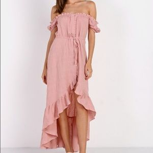 auguste willow day dress in blush